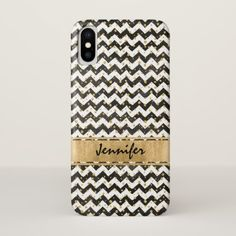 Black White Case-Mate Barely There iPhone X Case - pattern sample design template diy cyo customize