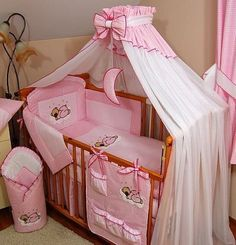 8 pcs BABY BEDDING SET /BUMPER/CANOPY /HOLDER to fit COT BED 140 x 70cm PINK by MDSS, http://www.amazon.co.uk/dp/B009X6CHI0/ref=cm_sw_r_pi_dp_3pUTsb0SVFJNP