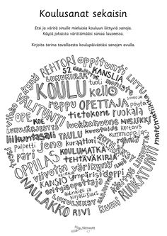 Koulu - Värinautit Special Education, Back To School, Kindergarten, Learning, Quotes, Quotations, Studying, First Day Of School, Kindergartens