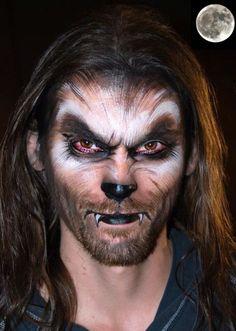 Imagen maquillaje-halloween-hombre-lobo-cara del artículo Fotos de Maquillaje Halloween para hombres 2016