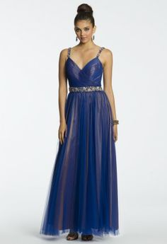 Two Tone Beaded Waist Band Dress from Camille La Vie and Group USA #homecomingdresses #homecoming