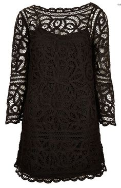 Macrame Lace Shift Dress from TopShop. #blackbridesmaid #weddingstyle