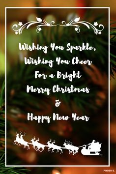 Christmas and new year wishing card design.