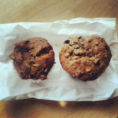 Vegan pumpkin and hemp currant muffins from the Wild Oat in Ottawa, ON