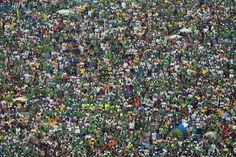 Una compacta multitud asiste a la misa presidida por el Papa Francisco en la playa de Copacabana. Foto: AP