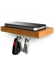 PLANK, a floating shelf with magnetic strip along the bottom to hold onto keys.