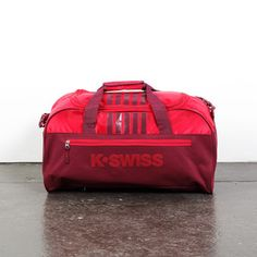 d025c5c20756 K•Swiss Retro Sport Duffle Bag Red Tech Accessories