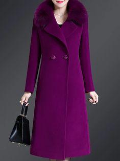 LightInTheBox - Παγκόσμιες Online Αγορές για Φορέματα, Σπίτι & Κήπος, Ηλεκτρονικά Προϊόντα, Ένδυση Γάμου Hijab Fashion, Fashion Outfits, Long Winter Coats, Girl Sleeves, Mode Hijab, Outerwear Women, Coat Dress, Bleu Marine, Coats For Women