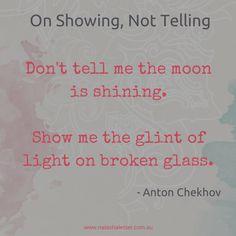 Anton Chekhov's advice for writers on writing fiction | www.natashalester.com.au