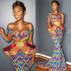 Latest Kente Designs That Will Make You Fall in Love - Afro Fahionista African Fashion Designers, African Inspired Fashion, African Print Fashion, Africa Fashion, African Fashion Dresses, African Attire, African Wear, African Women, African Dress