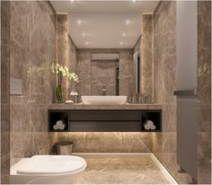 Port Baku Residence WC on Behance de bano de lujo moderno Washroom Design, Bathroom Design Luxury, Bathroom Layout, Modern Bathroom Design, Small Luxury Bathrooms, Bathroom Design Inspiration, Beautiful Bathrooms, House, Behance