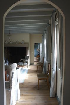 An elegant enfilade...in a Normandy House ~ Phoebus Interiors