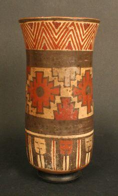 Vaso polícromo – Museo Chileno de Arte Precolombino Museo Chileno de Arte Precolombino Mexican Ceramics, Inca, Black Art, Cups, Pottery, Kawaii, Joy, Inspiration, Vintage