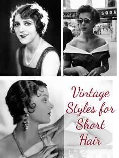 Quick ideas for a vintage look on short hair