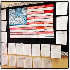 American Flag interactive group poster bulletin board display