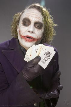 The Joker (from The Dark Knight, 2008). Portrayed by Heath Ledger
