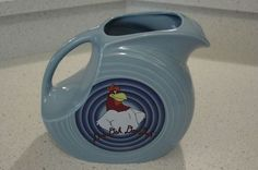 HLC FIESTA® FOGHORN LEGHORN & BUGS BUNNY DISK PITCHER - NEAR MINT, & EXCELLENT! #WarnerBrothers