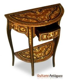 Superb marquetry French Louis XV Style console