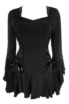 Amazon.com: Dare To Wear Victorian Gothic Boho Women's Plus Size Bolero Corset Top Black S: Clothing