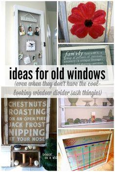Ideas for Old Windows via Remodelaholic
