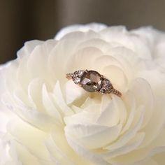 Honey jewelry co champagne diamond engagement ring