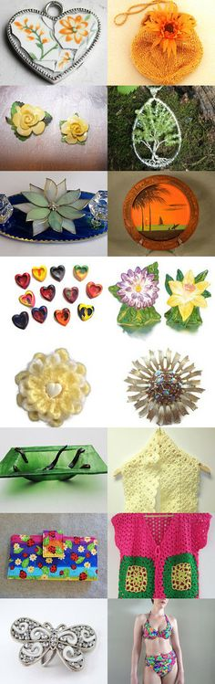 Spring Forward with Mosaic Pendants on the KISTeam by Poppy Lesti on Etsy--Pinned with TreasuryPin.com