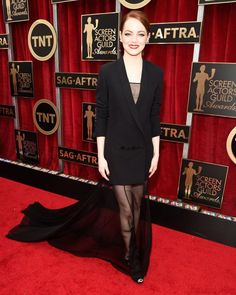 Emma Stone w sukience Dior na gali SAG 2015
