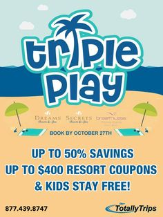 Enjoy savings at 3 great resorts. For a Friendly experience, stay at 1 of 4 Dreams Resorts where Kids Stay FREE! Looking for a Adults Only. Dreams Resorts, Adults Only, Travel Agency, Hotels And Resorts, Romantic, Punta Cana, Vacation, Play, How To Plan