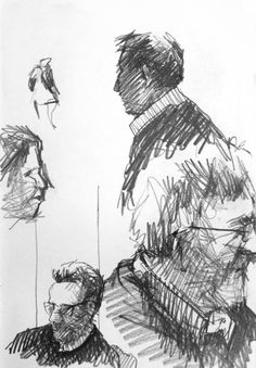 Coffee Shop Sketching - Original Artwork by http://davidhewittartist.com/ #Art #Artist #Drawing #Sketching #Pencil #CoffeeShop #Figure #LifeDrawing