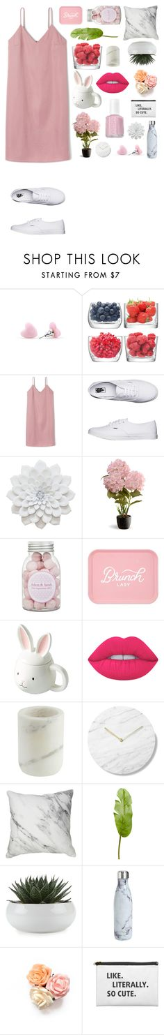 """""""Untitled #438"""" by dutchfashionlover ❤ liked on Polyvore featuring LSA International, Vans, National Tree Company, Lime Crime, John Lewis, Pier 1 Imports, S'well, Essie, Pink and marble"""