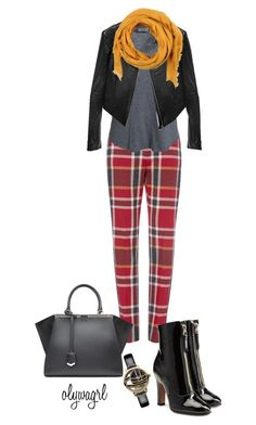"""Red Tartan"" by olywagrl on Polyvore featuring Hunkydory, Linea Pelle, Valentino, CORNICI, Fendi and Vivienne Westwood"