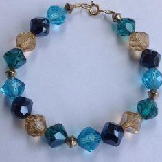 30% Off Bundles 14k GP Faceted Glass Bracelet Beautiful faceted glass. 14k GP. Handmade. New! Cindylou's Design Jewelry Bracelets
