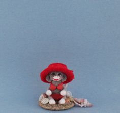 OOAK~Sock Monkey~Beach~Shells~Dolls House~Sculpture~Artist Doll~Cheryl Brown #CherylBrown