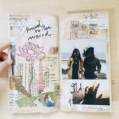 be weird. Follow me on Instagram @janethecrazy #travelersnotebook #scrapbook…