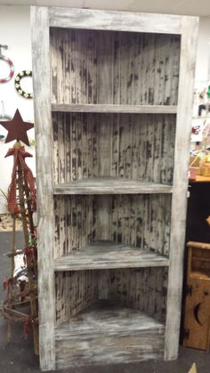 Beautiful Rustic Corner Bookcase  featuring by BeaDazzledandBeyond, $225.00