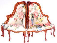 Dollhouse miniature Bespaq living furniture Settee