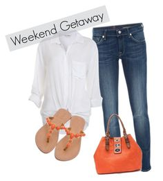 """""""Weekend Getaway"""" by wcatterton ❤ liked on Polyvore featuring 7 For All Mankind, Miss Selfridge, Marni and Mystique"""