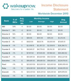 Wake Up Now income disclosure, how much or how little can you earn with WUN.