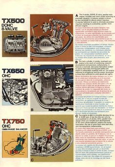 Very fine 1973 Yamaha TX range brochure, focusing on (supposed)TX touring abilities. Some nice pics ( a remarkable pre-hipster bearded captain on the cover). Please notice the last page pics: a red…