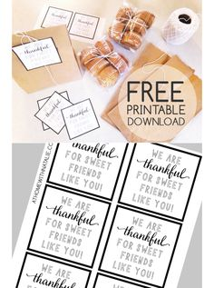 FREE Printable - Baked goods gift giving - ATHOMEWITHNATALIE
