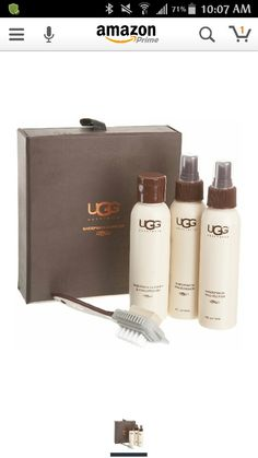 We all know ugg boots are expensive but well worth it they're amazing product! I believe the cleaning kit specially designed for your Uggs are essential and at around $20 you can't get any better than that