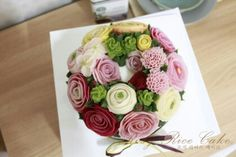 flower rice cake  앙금플라워 떡케익 - ROSY RICE CAKE 로지 라이스 케이크-  http://blog.naver.com/rosyrice