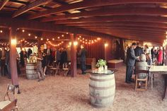Great view of the barn for cocktail hour #CedarwoodWeddings