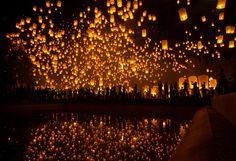 YeePeng Festival ChiangMai Thailand by   chattakan kosol