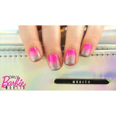 A closer #look at #pinkneon and #holographic #nails! #nailstagram #naiLove #nailspiration #nails2inspire #nails4instagram #nailstagram #nailyDaily #naiLovers #nailswag #holographic #holo #neon #barbie #mohito #orly #mohitofashion #blingbling #glitter #silver