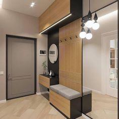 Entrance Hall Furniture, Home Entrance Decor, Hallway Furniture, Home Decor Furniture, Small Apartment Interior, Hall Interior, Apartment Design, Design Entrée, Flur Design