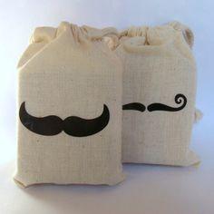 Soap Mustache Muslin Bag
