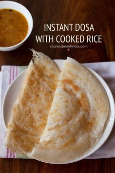 Instant Dosa Recipe made with Cooked Rice - These crisp rice dosa are made with . Instant Dosa Recipe made with Cooked Rice - These crisp rice dosa are made with leftover rice. Making Dosa fr Cooked Rice Recipes, Leftover Rice Recipes, Fried Fish Recipes, Leftovers Recipes, Veg Recipes, Indian Food Recipes, Vegetarian Recipes, Snack Recipes, Cooking Recipes
