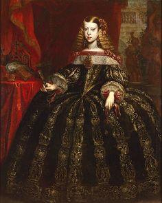 Gerard Du Chateau 001 - Category:Portrait paintings of Margaret Theresa of Spain - Wikimedia Commons Infanta Margarita, Austria, Roman Emperor, Fantasy Dress, Textiles, Marie Antoinette, Spain, Art Gallery, Costumes