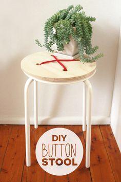 IKEA Hack: Easy DIY Button Stool Makeover » Curbly | DIY Design Community